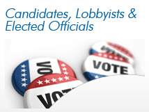 Candidates, Lobbyist & Elected Officials